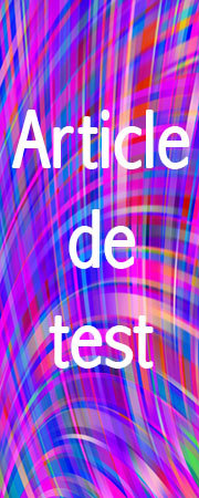 ARTICLE DE TEST